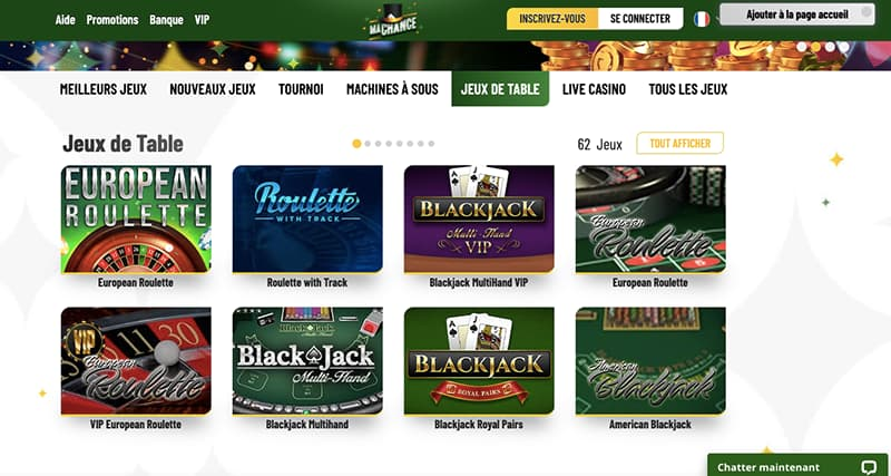 machance casino capture d'ecran jeux