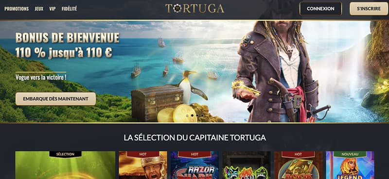tortuga casino capture d'ecran interface
